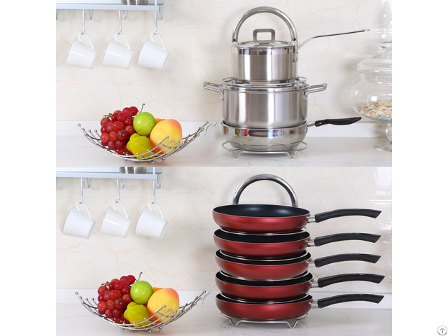 Lifewit 5 Tier Adjustable Stainless Steel Pan Pot Organizer