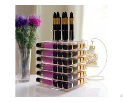 Lifewit Acrylic 81 Slot Rotating Cosmetic Storage Box