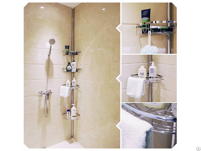 Lifewit 4 Tier Tension Shower Pole Caddy