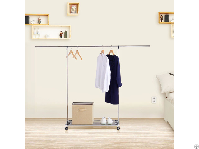 Lifewit Stainless Steel Rolling Movable Garment Rack