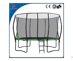 Createfun 10ft Cheap Trampoline With Fiberglass Safety Net