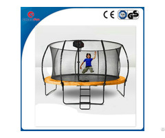 Createfun 12ft Fiberglass Cloth Trampolines With Basketball Hoop