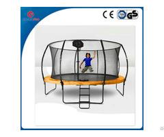 Createfun 12ft Fiberglass Cloth Trampolines With Basketball Hoop
