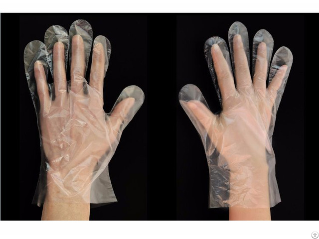 Low Cost Personal Protective Disposable Poly Gloves