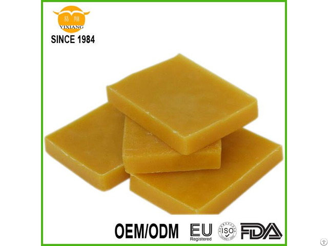 Yellow Natural Beeswax Slab Granule