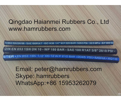 Sae 100r2at Din En853 2sn Wire Braided Hydraulic Hose
