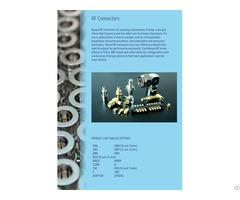 Rf-connectors For Transportation  Telecommunications Instrumentation And Aerospace Electronics