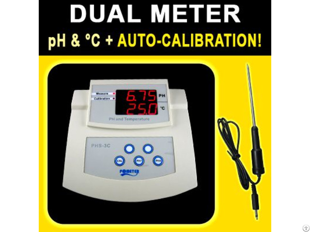 Kl Phs3c Bench Ph Temperature Meter