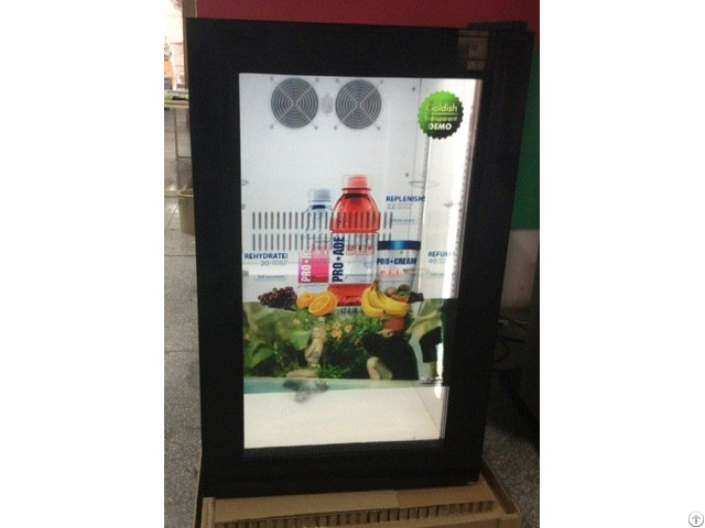 Transparent Lcd Screen Door Fridge