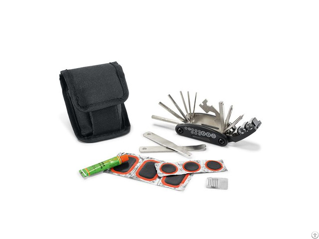 Multifunction Bicycle Fix Repair Tools Set With Tire Patch Levers In Bag