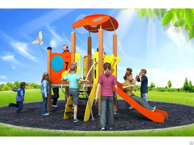 Hottest Pe Series Outdoor Playground Equipment For Children Above 3 Years Wd Bc203