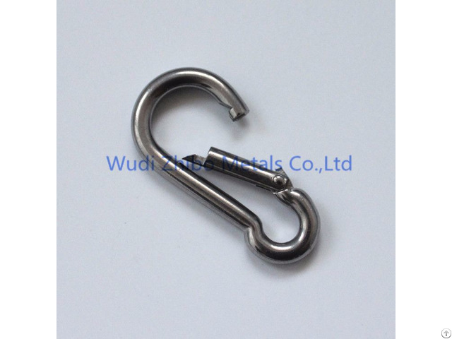 Stainless Steel Carabiner Spring Snap Hook Din5299c