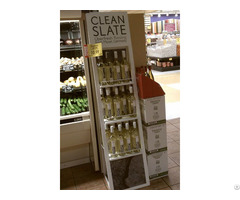 Supermarket Brand Printed Wooden Wine Display