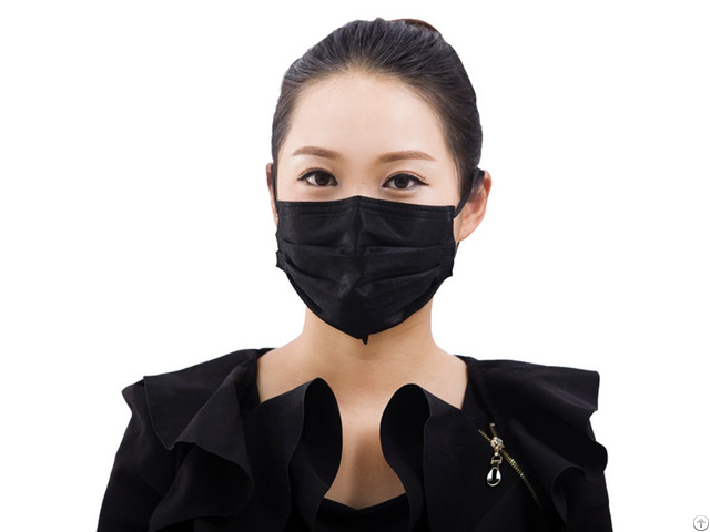 China Manufacturer Oem Disposable 3ply 4ply Black Non Woven Face Mask