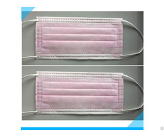 Custom Logo Printed Disposable 3ply Pink Non Woven Face Mask For Female
