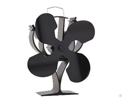 New Designed 4 Blades Heat Powered Stove Fan For Wood Log Burner Fireplace Eco Friendly