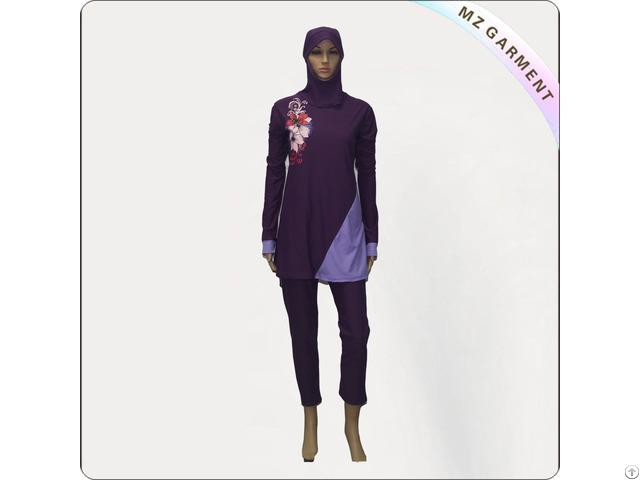 Purple Muslim Swimwear