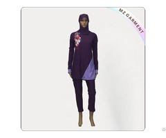Purple Muslim Swimwear