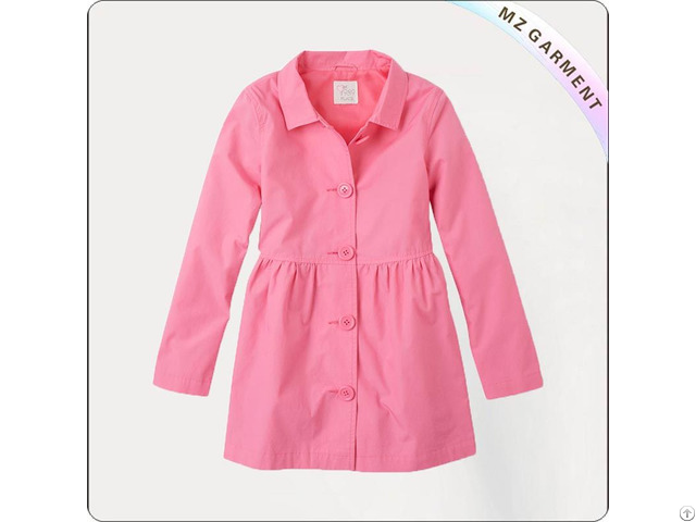 Girl Prism Pink Windbreaker Coat