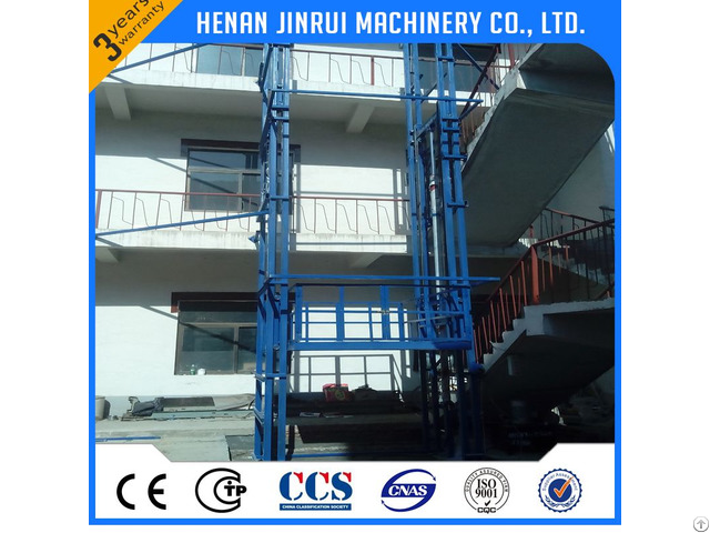 Factory Cargo Carry Guide Rail Lift Table