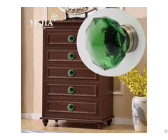 Home Improvement Glass Knob Dresser Brass