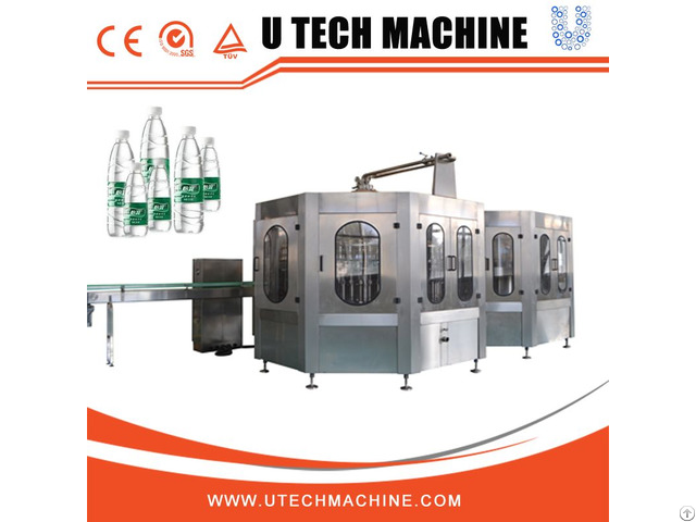 Full Automatic Pet Bottle Drink Water Filling Machine 3 In 1
