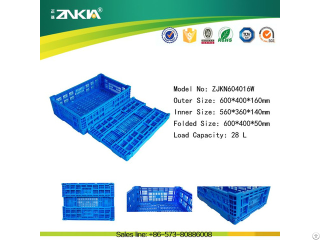 New Design Plastic Folding Crates And Boxes