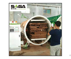 Vacuum Wood Treatment Plant With High Frequency Heating 3cbm 13cbm