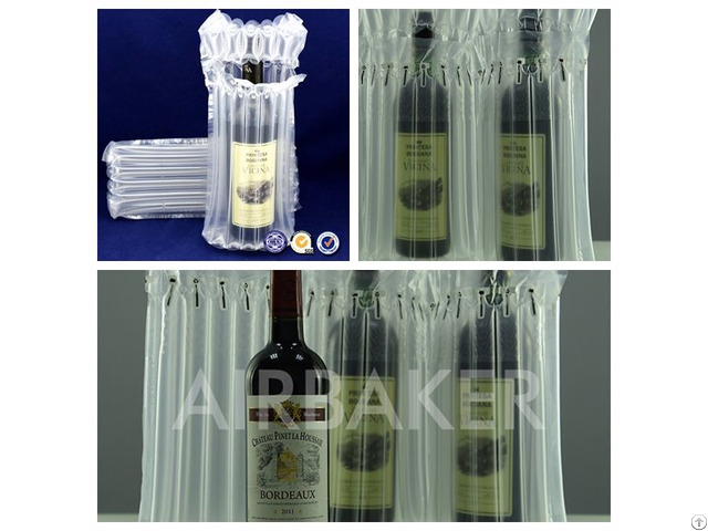 Eco Friendly Shockproof Air Bubble Bags Protecting For Wine