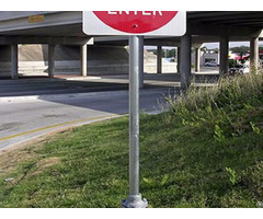 Round Pipe Sign Post