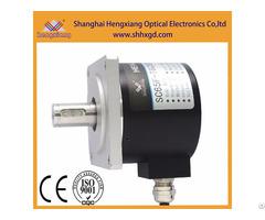 Hengxiang Flange Encoder Diameter 65mm Solid Shaft 15mm With Keyway