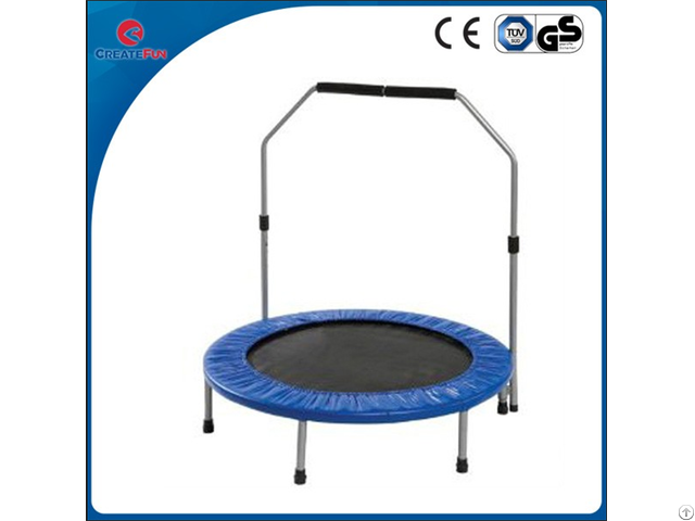 Createfun 50 Inch Sporting Mini Trampoline With Handle
