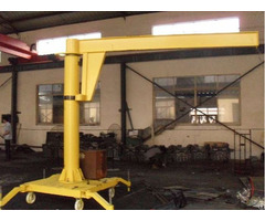 Handle Moving Jib Column Crane Raotation Radius 5m