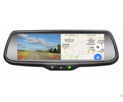 Germid 7 3 Inch Full Screen1080p Rear View Mirror Monitor With Mirrorlink And Backup Camera