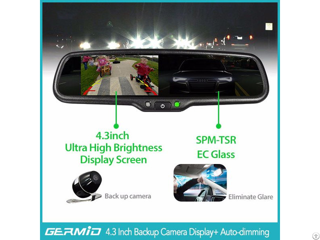 Hot Selling 4 3 Inch Tft Lcd Rear View Camera With Ec Auto Dimming And Replacement Blacket