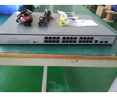 China Manufacturer 24 Port Full Gigabit Managed Poe Switch