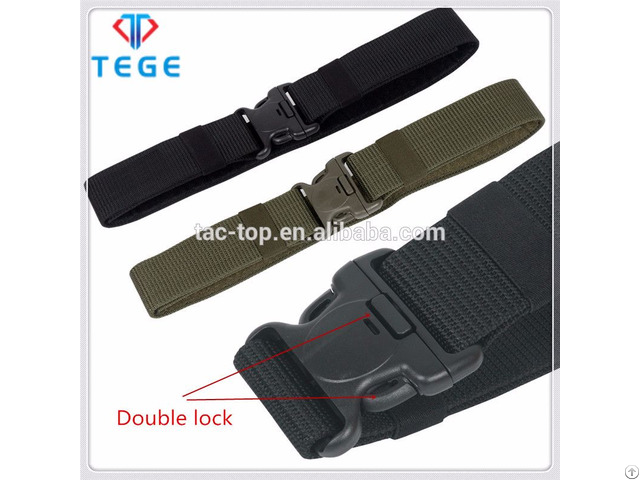 Outdoor Military And Police Double Lock Duty Belt