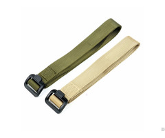 Hot Sell Police Army Green One Layer Running Belt In Fabric For Outside Sports
