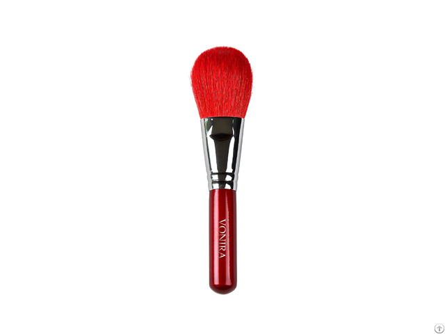 High Quality Private Label Soft Goat Hair Red Wood Handle Makeup Brush