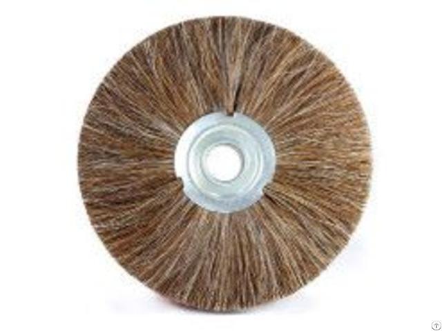 Union Natural Horse Hair Wheel Brush Clean Polishing Brushes