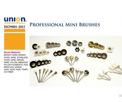 Union Mini Brushes With 3mm Shank