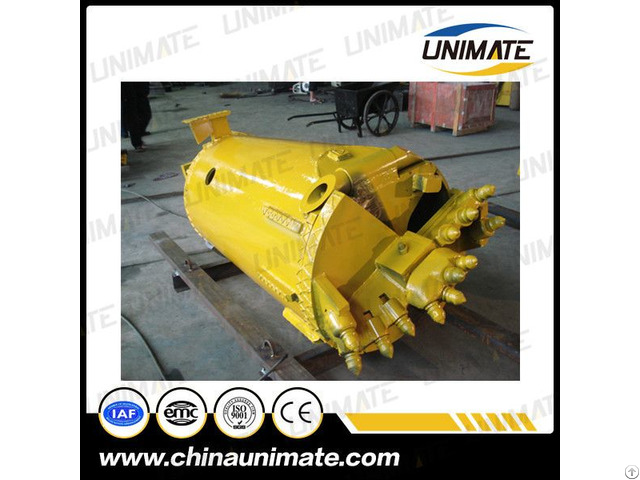 Unimate Rotary Drilling Rig Drill Rock And Clay Bucket
