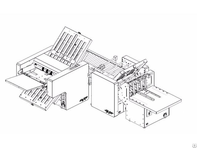 Sf 34m 2p A3 Stacker Cross Folding Line Paper Folder