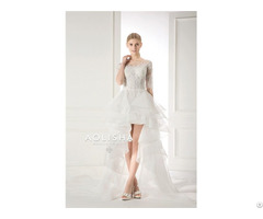 A18840161z Short Sleeves Off Shoulder Sweetheart Lace Applique Ball Wedding