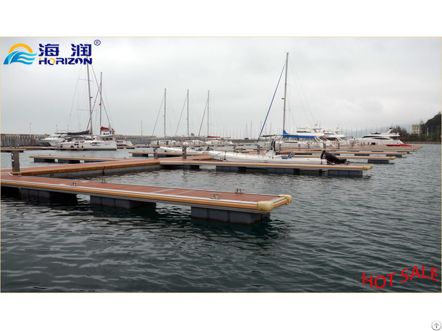 Factory Manufactured Floating Dock With Aluminum Alloy Pontoon