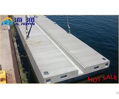 Eps Filled Rotational Molding Yacht Float Concrete Floating Pontoon Dock