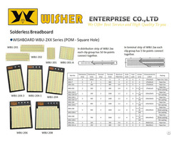 Solderless Breadboard Wishboard Wbu 2xx Series Pom Square Hole
