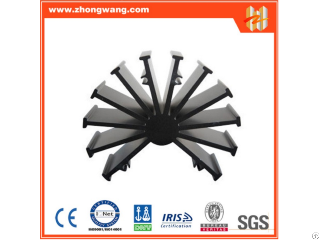 Aluminum Extruded Radiator Or Heat Sink With Black Anodized Surface