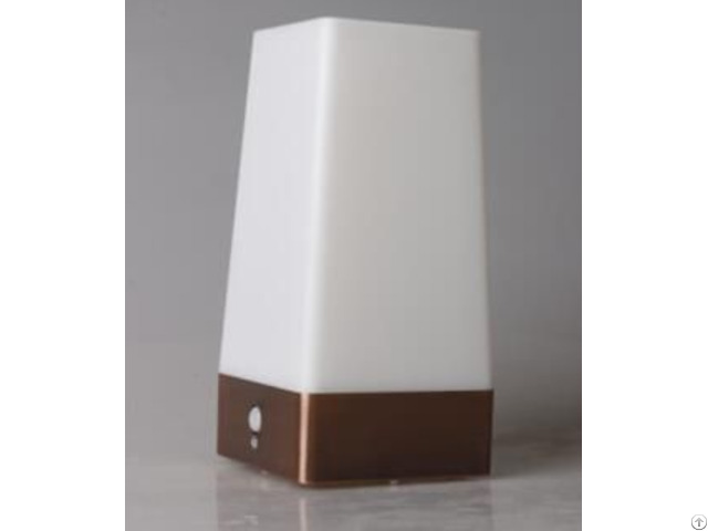 Battery Operated Square Shape Pir Motion Sensor Led Table Lamp