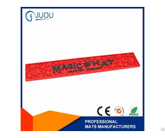 Custom High Quality Embossed Logo Soft Pvc Bar Mat